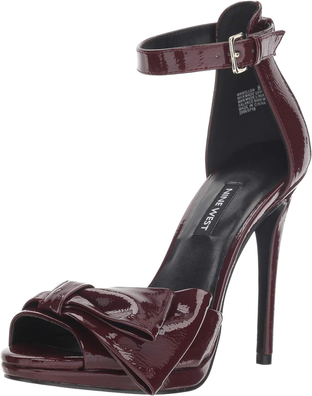Nine West Womens Bellen Synthetic Heeled Sandal
