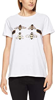 French Connection Women's Four Bees TEE, Summer White Multi