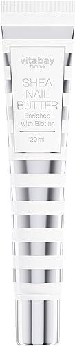 Burro per unghie di karitè - crema nutriente per unghie più biotina - contro le unghie fragili 20 ml