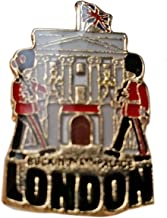 Enamel Pin Badge, Buckingham Palace - London Souvenir Pin Badge Detailing Buckingham Palace, the Queen's Residence