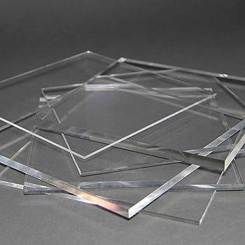 beidseitig foliert UV-best/ändig 10,0 mm stark Wunschma/ß Zuschnitt bis Gr/ö/ße 25 x 35 cm B/&T Metall Acrylglas PMMA XT Platte transparent 250 x 350 mm