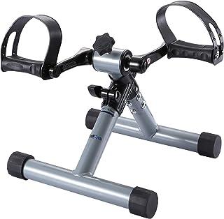 FITODO Pedales Ejercicio Estaticos Mini Bicicleta Estatica Brazos y piernas(Gris plata)
