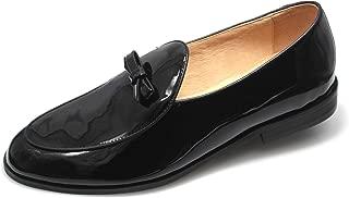 SMYTHE & DIGBY Men's Black Patent Leather Belgian Loafers