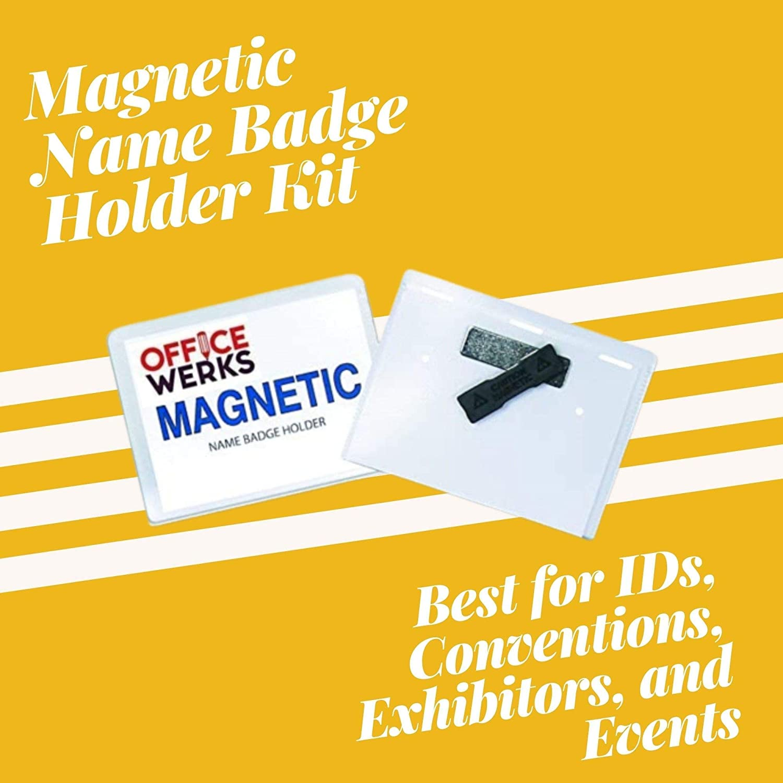 "Amazon.com  20 Pack of Magnetic Name Badge Holder Kit, 20"" x 20 ..."