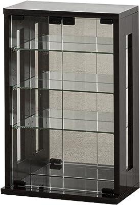 クロシオ ガラスケース ダークブラウン 幅40×奥行23(20)×高さ60cm