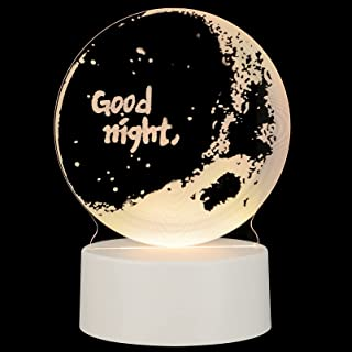 KESYOO 3D LED Night Light Good Night Romantic Lamp Neon Sign USB Desk Sleeping Lamp for Birthday Party Home Bedroom Decor