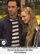 Milo Ventimiglia and Amanda Seyfried at The Art of Racing in the Rain NYC Premiere