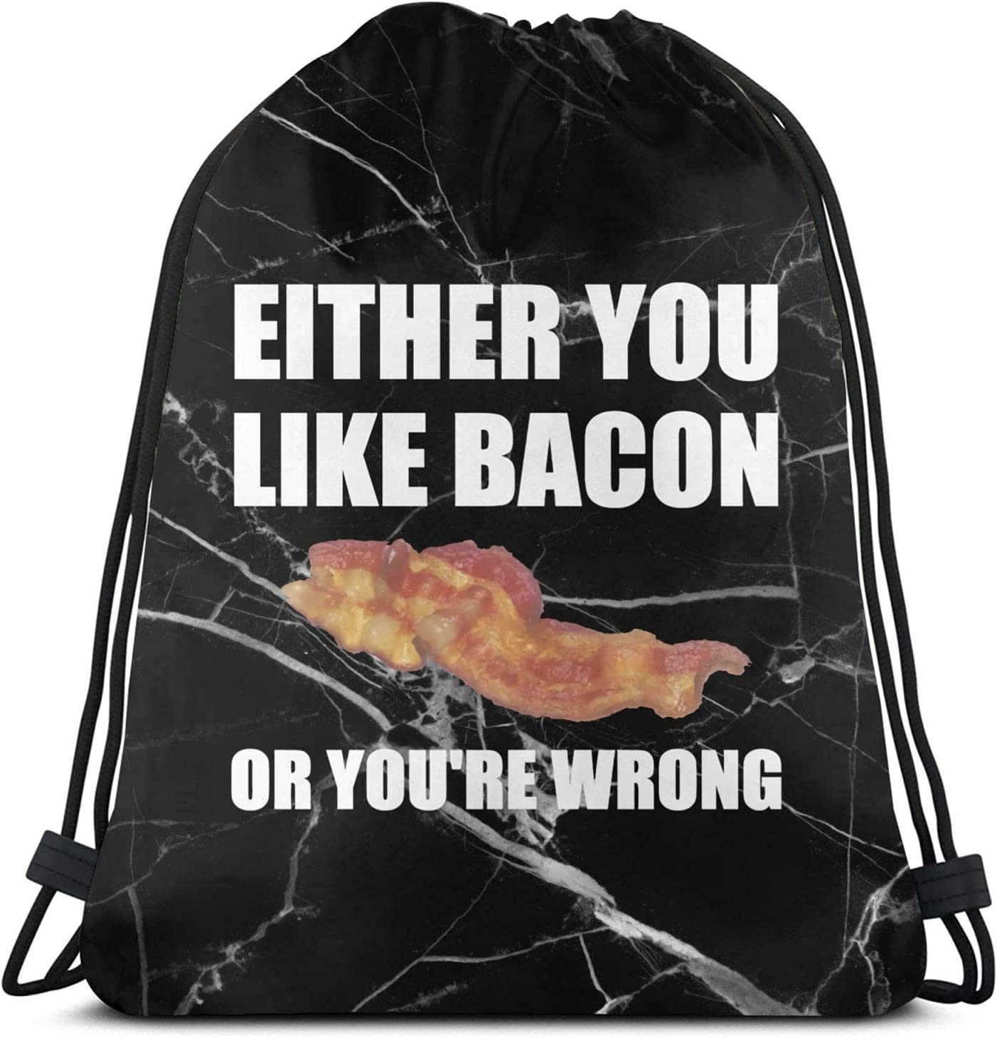 Bacon Or Wrong Drawstring Backpack 40% OFF Cheap Sale String Draw Bags free shipping Gym Sports