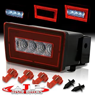 AJP Distributors Red LED Running Rear Fog Light 3rd Brake Tail Lamp Lower Bumper F1 Style For 2011 2012 2013 2014 2015 2016 2017 2018 2019 Subaru WRX STI XV Crosstrek (RED CLEAR)