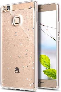 ELE01065-all Huawei P9 skal, Huawei P9 skyddsfodral, Surakey lyx bling Klar B