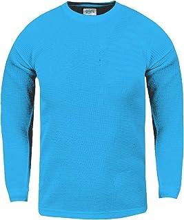 Shaka Wear Camiseta térmica de manga larga con cuello redondo y gofres para niño