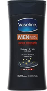 Vaseline Men Extra Strength Body And Face Lotion - 10 Oz ( Pack of 5 )