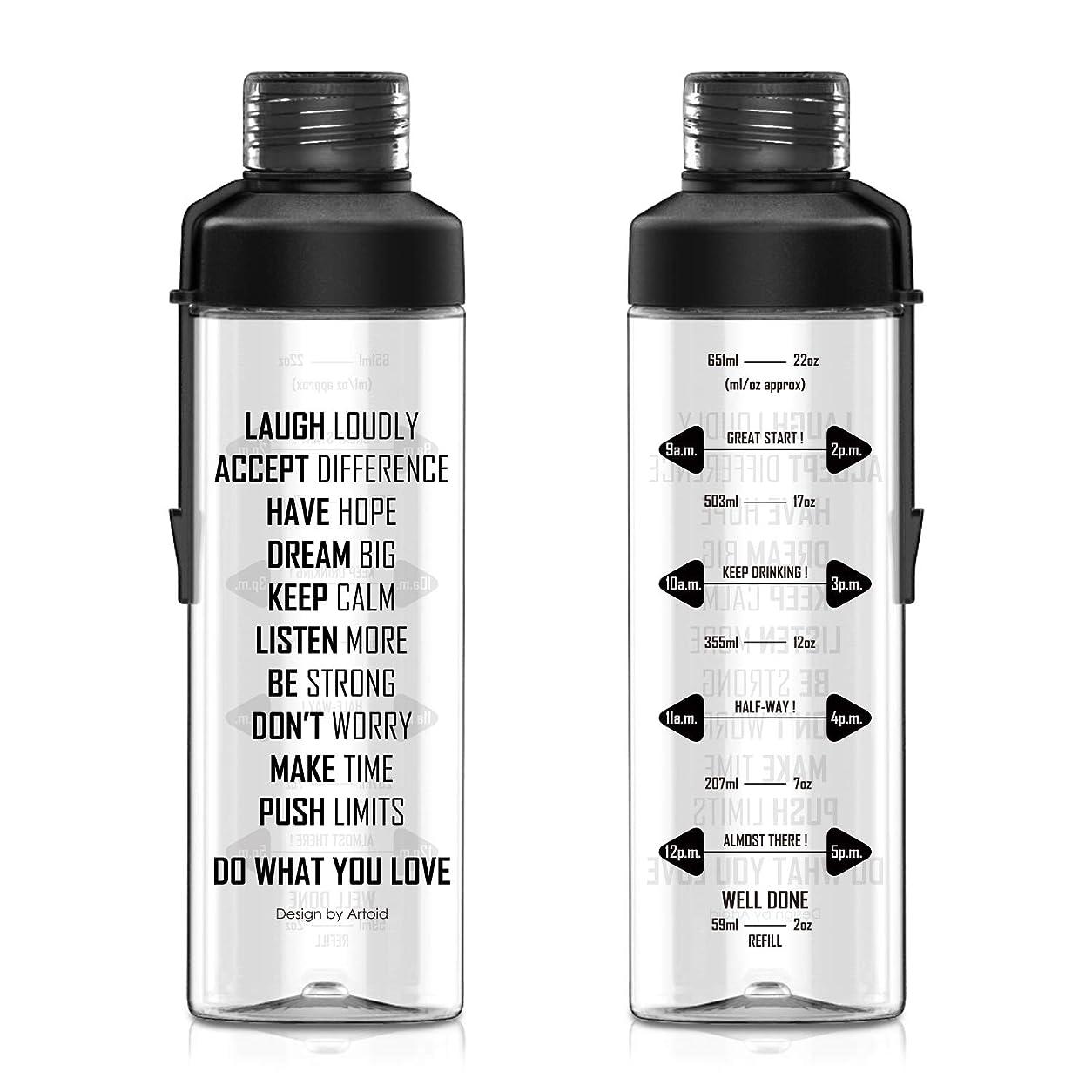 最初はすみません一般Artoid Mode 750ml ウォーターボトル Tritan スポーツ アウトドア クリア 直飲み 軽量 プラスチック