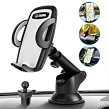 Car Phone Mount, Trkimal Universal 3-in-1 Adjustable 360° Car Air Vent Dashboard Windshield Smartphone Holder Compatible with iPhone max xr xs x s 8 7 6 5 6s Plus Samsung Galaxy s10 s9 s8 s7 s6 s5