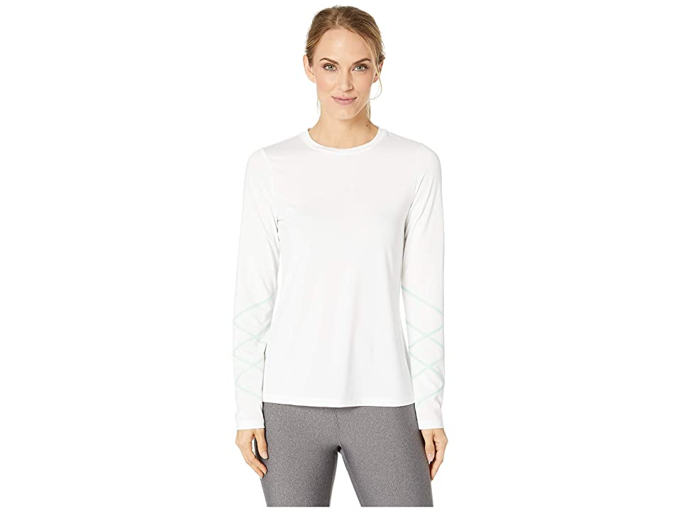 SHAPE Activewear Cross Check Long Sleeve Tee (White) Women