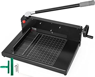 Mophorn Paper Cutter 12Inch A4 Commercial Heavy Duty Paper Cutter 300 Sheets 45HRC Hardness Stack Cutter Metal Base Desktop Stack Cutter for Home Office (A4, 12Inch/45HRC Blade Hardness)