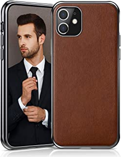 LOHASIC iPhone 11 Case, Business Slim Fit Premium PU Leather Elegant High-end Luxury Cover Shockproof Bumper Anti-Slip Soft Grip Full Body Protective Phone Cases for Apple iPhone 11(2019) 6.1