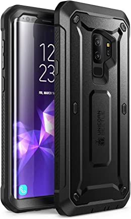 SUPCASE Unicorn Beetle PRO Series Design for Samsung Galaxy S9+ Plus Case, with Built-in Screen Protector Full-Body Rugged Holster Case for Galaxy S9+ Plus (2018 Release) (Black)