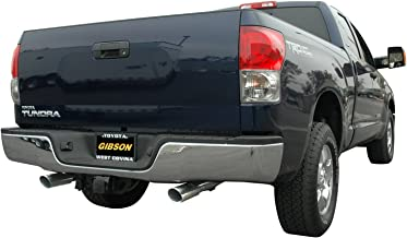 Gibson Performance Exhaust 67402 Cat-Back Dual Split Exhaust System Stainless 2.5in. Tubing 4x9x18in. Oval Body 2.5in. Dual In/Dual Outlet 4in. Polished Slash-Cut Tip Exit Straight Out Back Cat-Back Dual Split Exhaust System