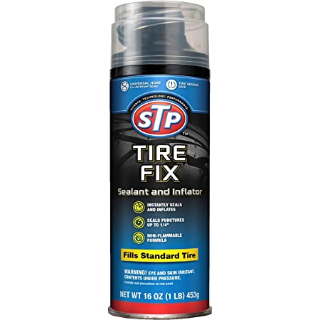 STP Car Tire Inflator and Sealant - for Cars & Truck Wheels, 19065
