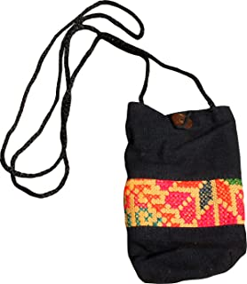 Full Funk Cotton Hmong Hill Tribe Mobile Phone Bag with Long Strap
