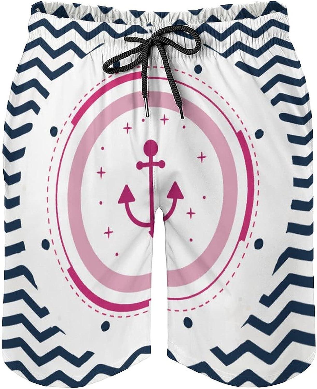 Men's Colorful Stripe Swim TrunksShip's-Anchor