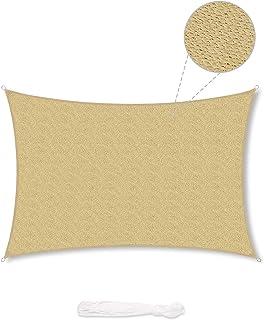 comprar comparacion Sekey Toldo Vela de Sombra Rectangular HDPE Protección Rayos UV Resistente Permeable Transpirable para Patio, Exteriores, ...