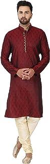 طقم بيجامة تونك كورتا بتصميم هندي تقليدي للحفلات للرجال من سكافيج
