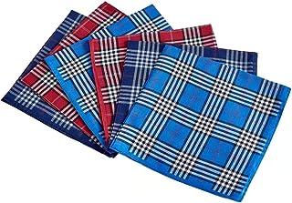 دستمال های مردانه 100٪ الگوی چکر پنبه ای 6 تکه