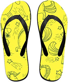 f5fd10654 Kefanlk Unisex Sandy Flat Funny Flip Flops Thong Sandals Sea Fauna Slipper  Top Mat