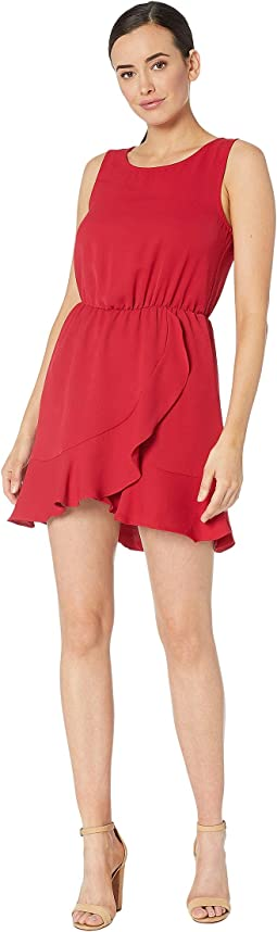 Ruby Sleeveless Faux Wrap Dress