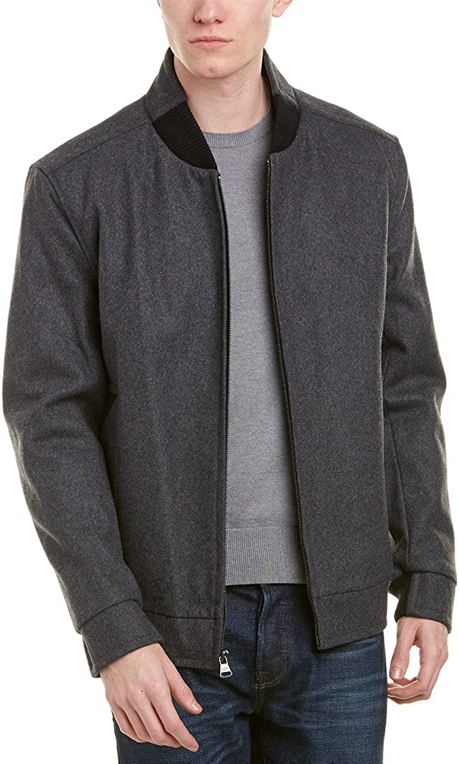 Marc New York by Andrew Marc mens Barlow Melton Wool Bomber Jacket
