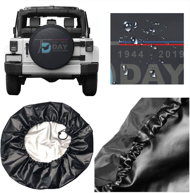 Housse de pneu de roue de secours de d/ébarquement de Normandie pour remorque RV SUV Truck Camper Travel Trailer 2019 shenguang D-Day 75th Anniversary