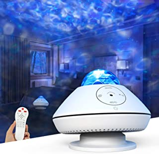 Star Projector,MiiKARE Star Night Light with Music,10 Lighting Modes&Ocean Wave Light with Remote Control,Smart Wi-Fi Mode...