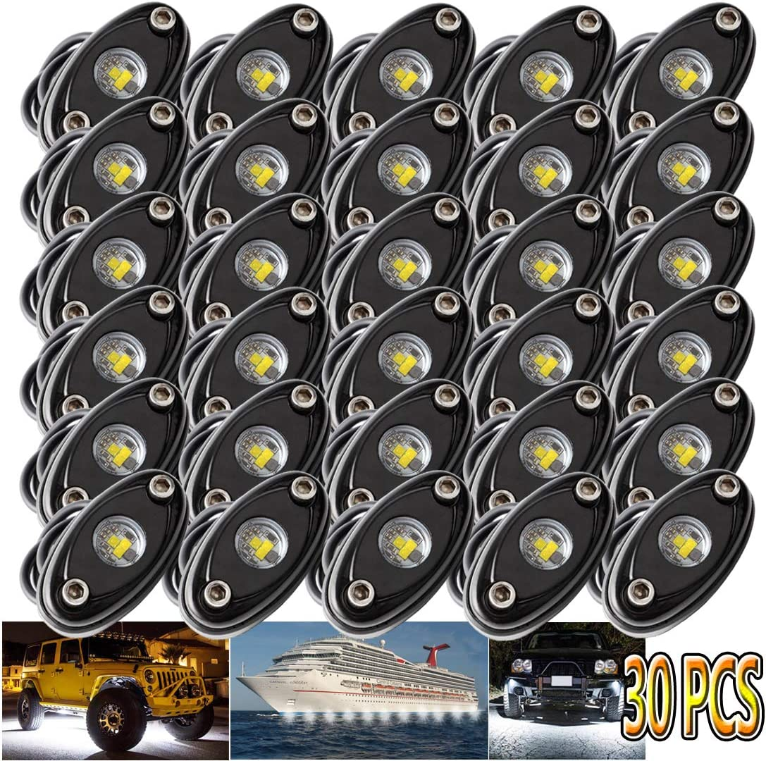 LEDMIRCY LED Rock Lights White 30PCS for Road ep Shipping included Trucks Off Je R cheap