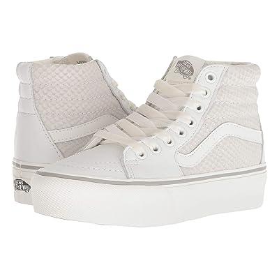 Vans SK8-Hi Platform 2.0 ((Leather) Snake/White) Skate Shoes