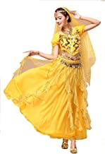 YYCRAFT Women`s Halloween Costume Tops Skirt Set with Accessories Belly Dance Performance Outfit 6 Colors