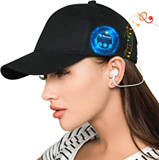 Women's Baseball Cap for Men Unisex Cotton Summer Adjustable Golf Cap Bluetooth Heahphone Runner Wireless Smart Outdoor Sport Hat Mother's Birthday Gifts Idea for Boys, Girls, Teen, Students, Dad