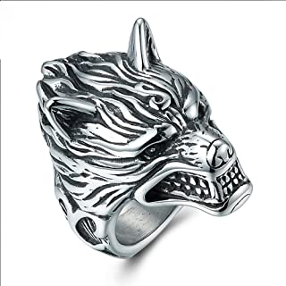 Best wolf head ring sterling silver Reviews