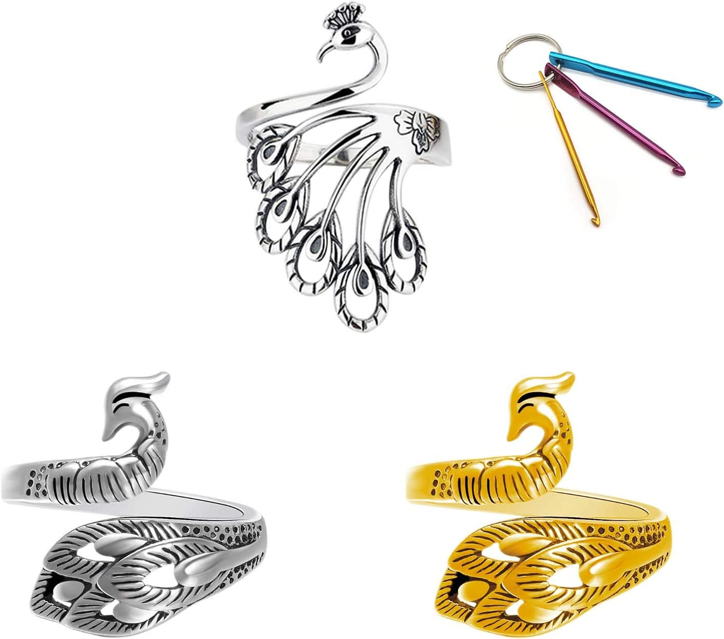 Adjustable Knitting Loop Ring Accessories 3 Style Max 70% Max 63% OFF OFF Prem