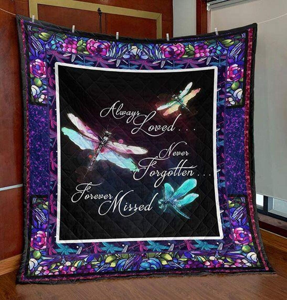 Personalized Dragonfly Atlanta Mall Quilt - Save money Always Fore Forgotten Never Loved