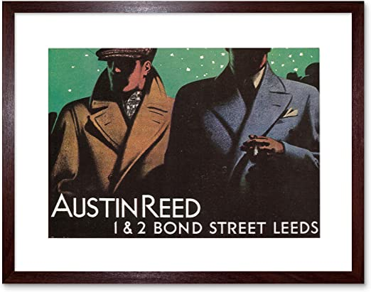 Amazon Com The Art Stop Ad Austin Reed Bond Street Leeds Yorkshire Framed Print F12x2525 Posters Prints
