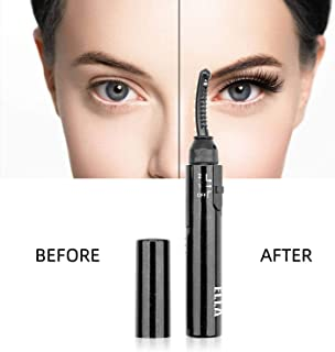 Heated Eyelash Curler, Electric Eyelash Curler, Portable Eyelash Curler for Curled Eyelashes Painless Natural Beauty Make Up Tool, Quick Heating&Long Lasting