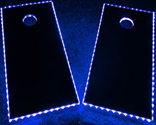 GlowCity LED Cornhole Board Lights – Ultra Bright Lights for Corn Hole and Board, Fits 2 x Boards – Waterproof and Durable Cable Ideal for Family Outdoor Games or Backyard Glow in The Dark Fun