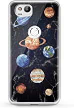 Cavka TPU Phone Case for Google Pixel 2 XL 3 XL 3a XL 4 XL New Cover 2019 Lightweight Clear Saturn Galaxy Art Print Solar Blue Soft Gift Colorful Marble Planets Flexible Slim fit Smooth Design Realty