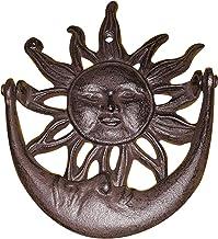Cast Iron Sun and Crescent Moon Door Knocker Bronze