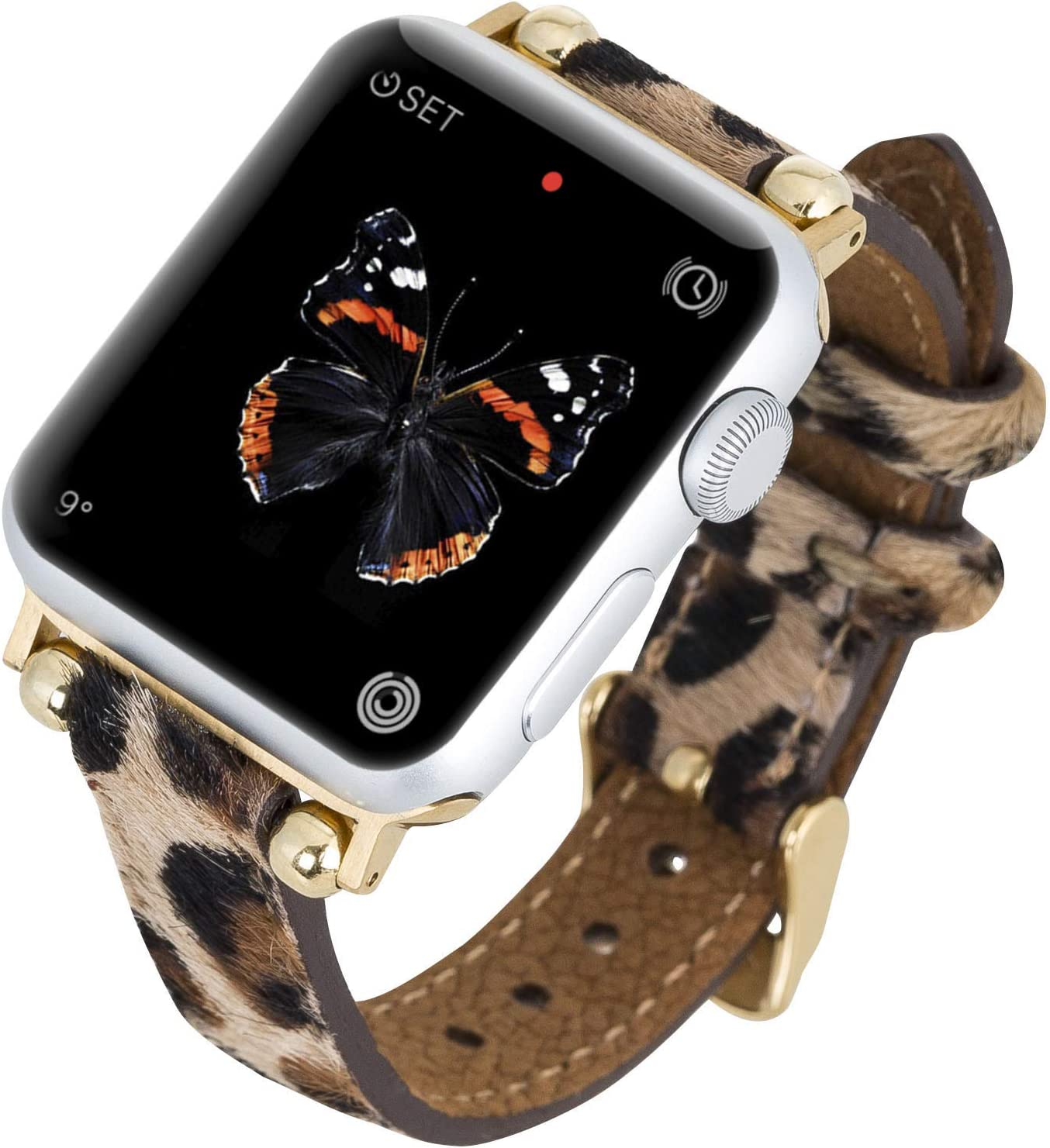Venito Foggia Leather Watch Our shop most popular Band Ser Apple with Luxury goods Compatible