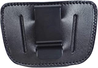 Tactical Scorpion Gear Ambidextrous Universal IWB OWB Leather Holster: Fits Springfield XDS & XD, Glock 19 21 19X 43, S&W M&P Plus All Other Such Weapons