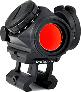 AT3 Tactical RD-50 PRO Red Dot Sight – with Riser Mount for Cowitness with Iron..