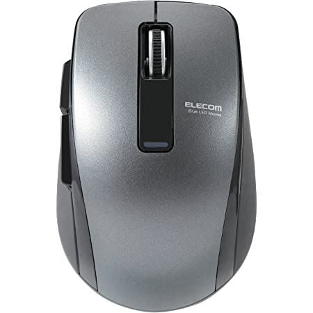 エレコム マウス Bluetooth (iOS対応) Mサイズ 5ボタン (戻る・進むボタン搭載) BlueLED 省電力(電池寿命:約1.3年) ブラック M-BT20BBBK